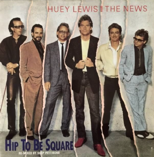 "Huey Lewis And The News - Hip To Be Square (12"") (VG-EX/VG++)"